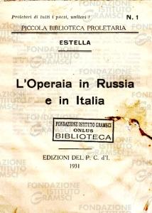 L'operaia in Russia e in Italia