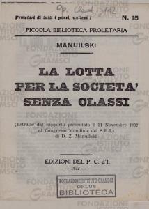 La lotta per la società senza classi