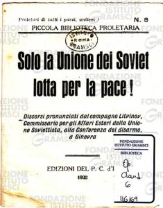 Solo la Unione dei Soviet lotta per la pace