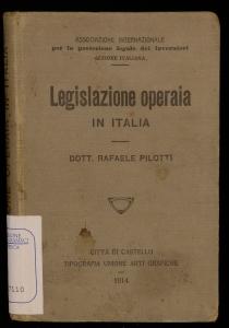 Legislazione operaia in Italia