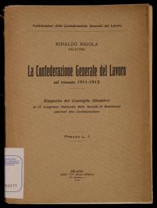 La Confederazione generale del lavoro nel triennio 1911-1913