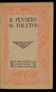 Il pensiero di Tolstoi