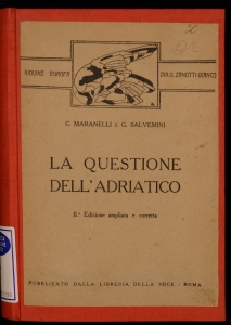La questione dell'Adriatico