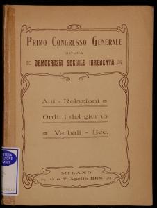 Primo congresso generale della Democrazia Sociale Irredenta
