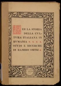 Per la storia della cultura italiana in Rumania
