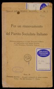Per un rinnovamento del Partito socialista italiano
