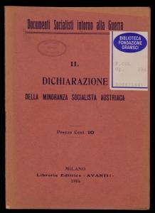 Dichiarazione della minoranza socialista austriaca