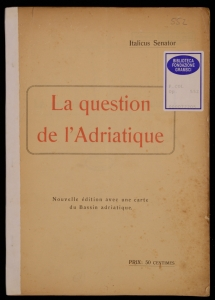 La question de l'Adriatique