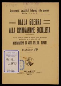 Dalla guerra alla rinnovazione socialista