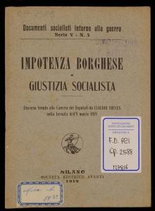 Impotenza borghese e giustizia socialista