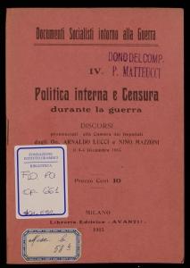 Politica interna e censura durante la guerra