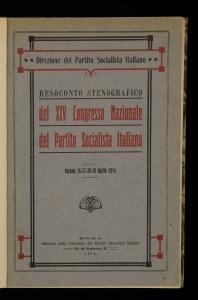 Resoconto stenografico del 14. Congresso nazionale del Partito socialista italiano