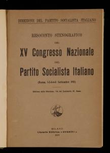 Resoconto stenografico del 15. congresso nazionale del Partito socialista italiano