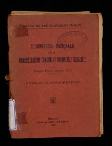 2. Congresso nazionale delle amministrazioni comunali e provinciali socialiste
