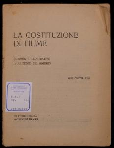 La costituzione di Fiume