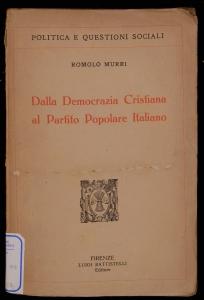 Dalla Democrazia Cristiana al Partito Popolare Italiano