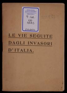 Le vie seguite dagli invasori d'Italia