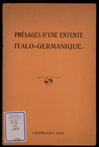 Présages d'une entente italo-germanique
