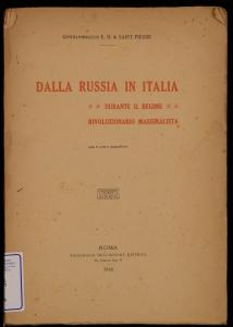 Dalla Russia in Italia durante il regime rivoluzionario massimalista