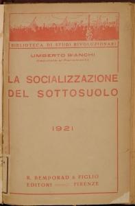 La socializzazione del sottosuolo e dell'industria mineraria