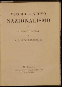 Vecchio e nuovo nazionalismo
