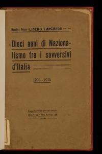 Dieci anni di nazionalismo fra i sovversivi d'Italia
