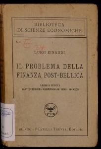 Il problema della finanza post-bellica