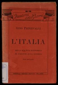 L'Italia nella sua vita economica di fronte alla guerra