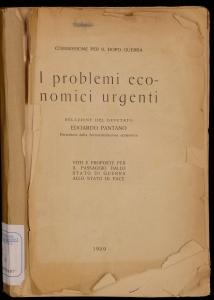 I problemi economici urgenti