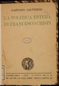 La politica estera di Francesco Crispi