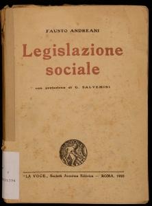 Saggi critici sulla legislazione sociale in Italia