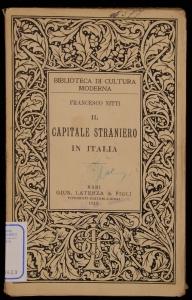 Il capitale straniero in Italia