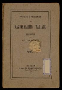 Dottrina e programma del nazionalismo italiano