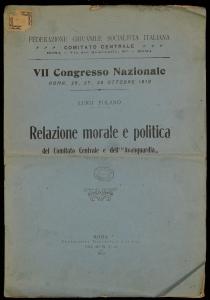 Relazione morale e politica del Comitato Centrale e dell'Avanguardia