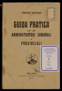 Guida pratica per gli amministratori comunali e provinciali