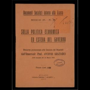 Sulla politica economica ed estera del governo