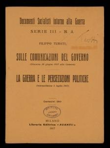 Sulle comunicazioni del Governo La guerra e le persecuzioni politiche