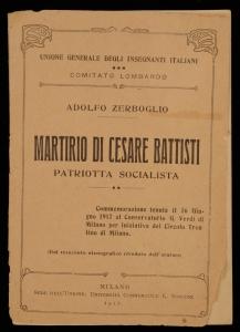 Martirio di Cesare Battisti, patriotta socialista