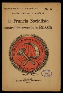 La Francia socialista contro l'intervento in Russia