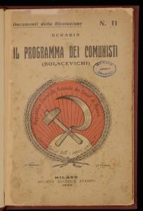 Il programma dei comunisti (bolscevichi)