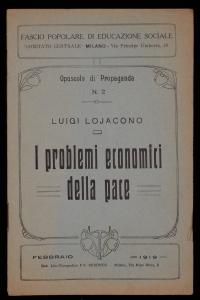 I problemi economici della pace