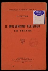 Il modernismo religioso in Italia