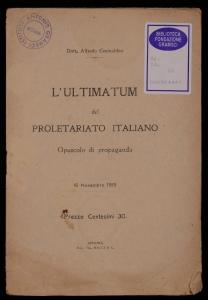 L'ultimatum del proletariato italiano