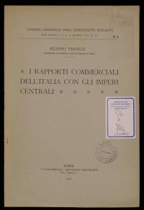 I rapporti commerciali dell'Italia con gli imperi centrali