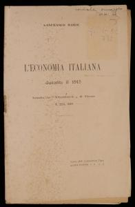 L'economia italiana durante il 1915