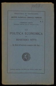 La politica economica del Ministero Nitti