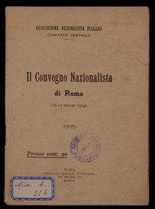 Il Convegno nazionalista di Roma, 16-17 marzo 1919