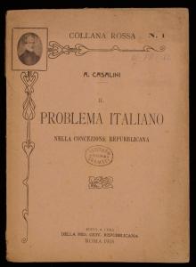 Il problema italiano nella concezione repubblicana