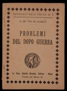 Problemi del dopo guerra