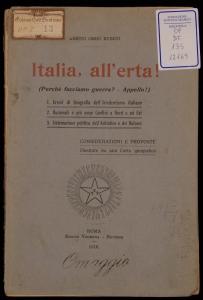 Italia, all'erta] (perché facciamo la guerra? appello])
